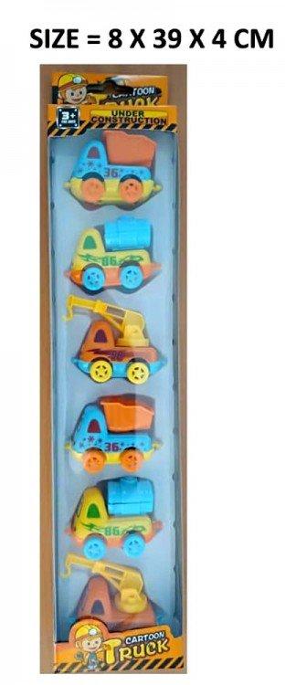 Mainan Trucks 6pcs 19070084