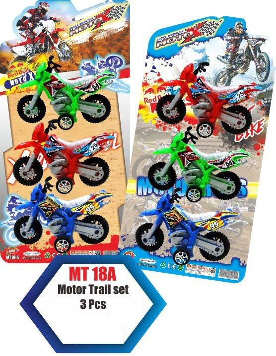 Mainan Motor Trail Set 3pcs 19070088