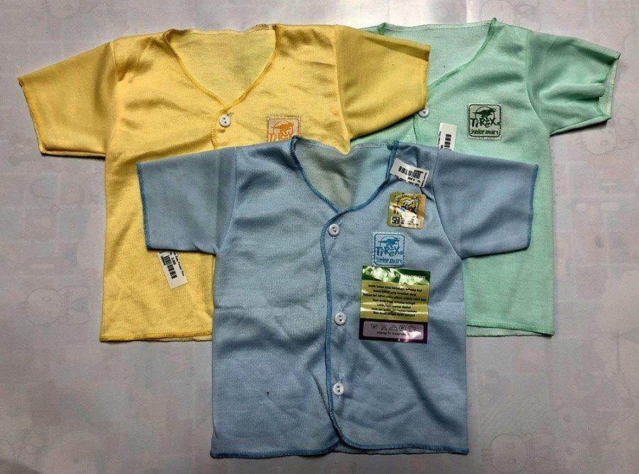 Baju Baby Pendek Newborn Polos Murah 19090045