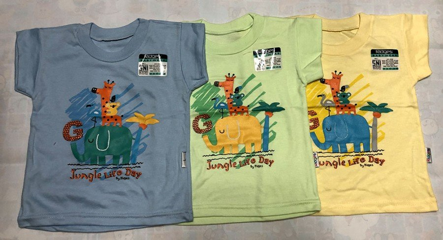 Atasan Kaos Anak Ridges Jungle Life Day XL 19090074