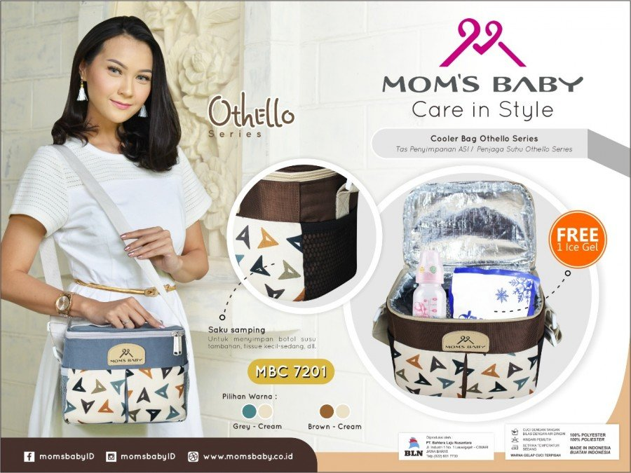 Moms Baby Cooler Bag Othello Series MBC7201 - Hijau 19090097