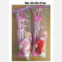Mainan Stroller + Boneka yang Bisa Bunyi Nangis 19100065