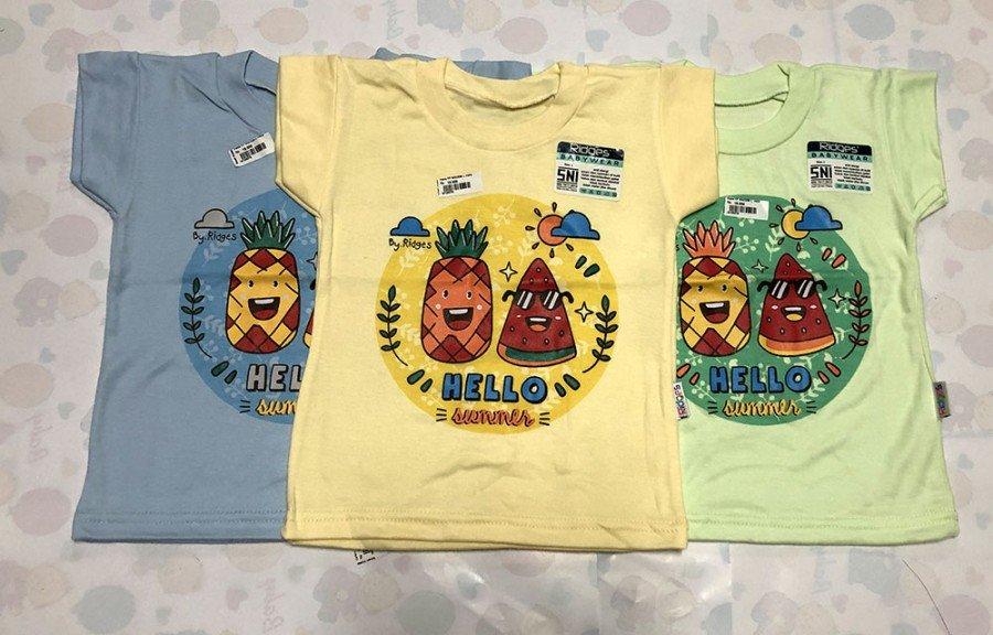 Atasan Kaos Anak Ridges Hello Summer XL 19100080