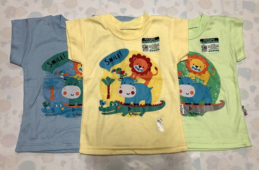 Atasan Kaos Anak Ridges New Smile L 19100070