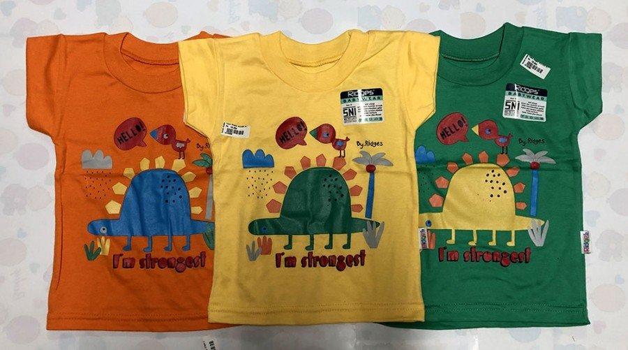 Kaos Anak Ridges I'm Strongest M 19100096