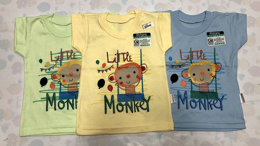 Atasan Kaos Anak Ridges Little Monkey XL 19090129