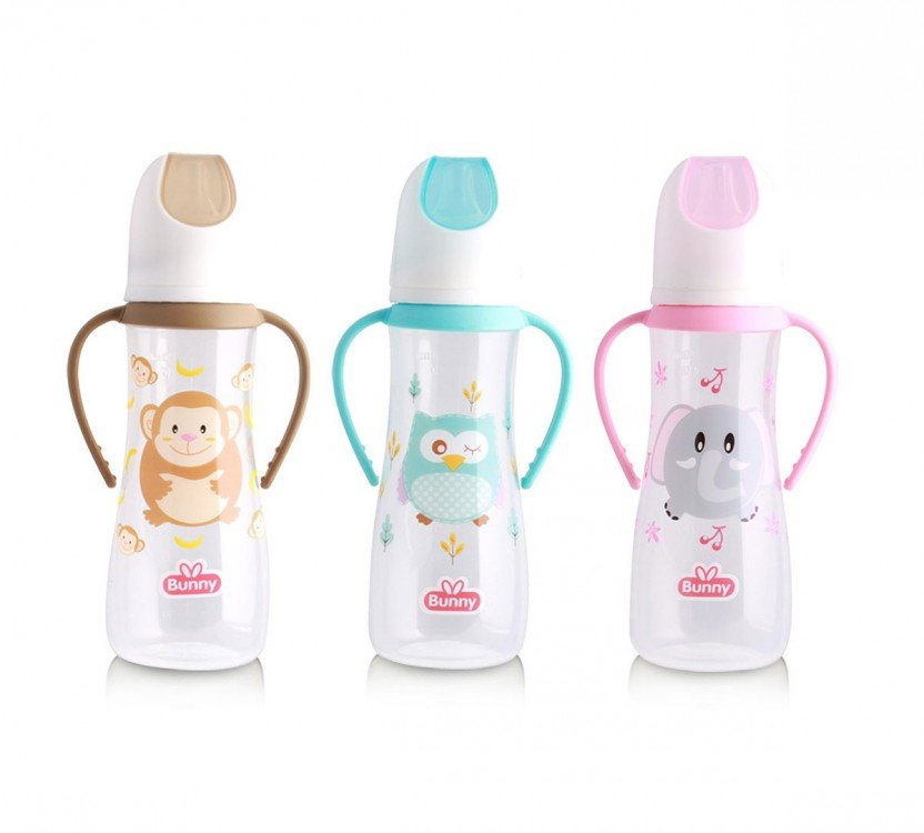 Botol Susu Bayi Lusty Bunny With Handle 250ml 19100189 (Pegangan)