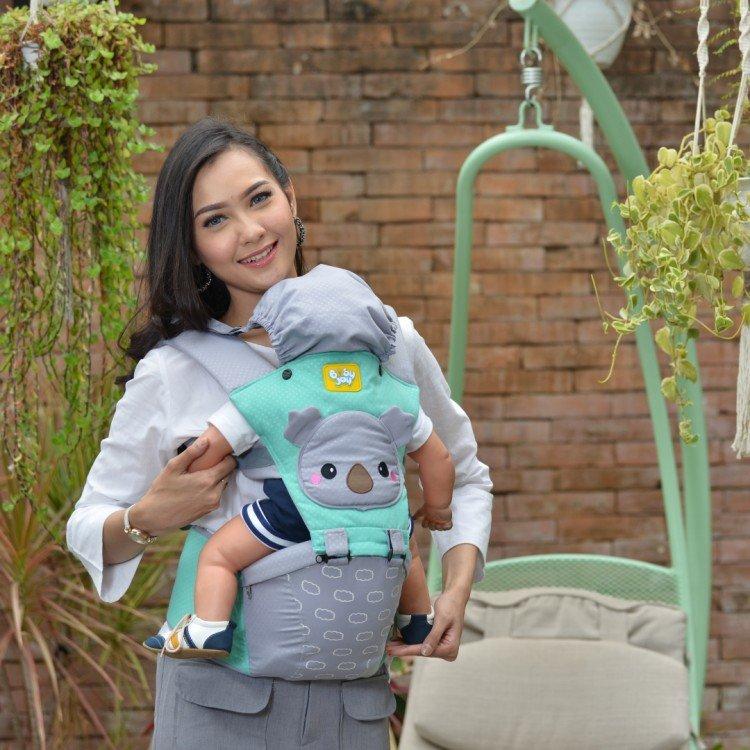 Gendongan Bayi Hipseat Kokoa Series Baby Joy BJG3029 - Hijau