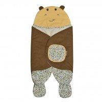 Baby Blanket / Selimut Bayi Topi Snobby Hippo Series TPB3131 - Coklat