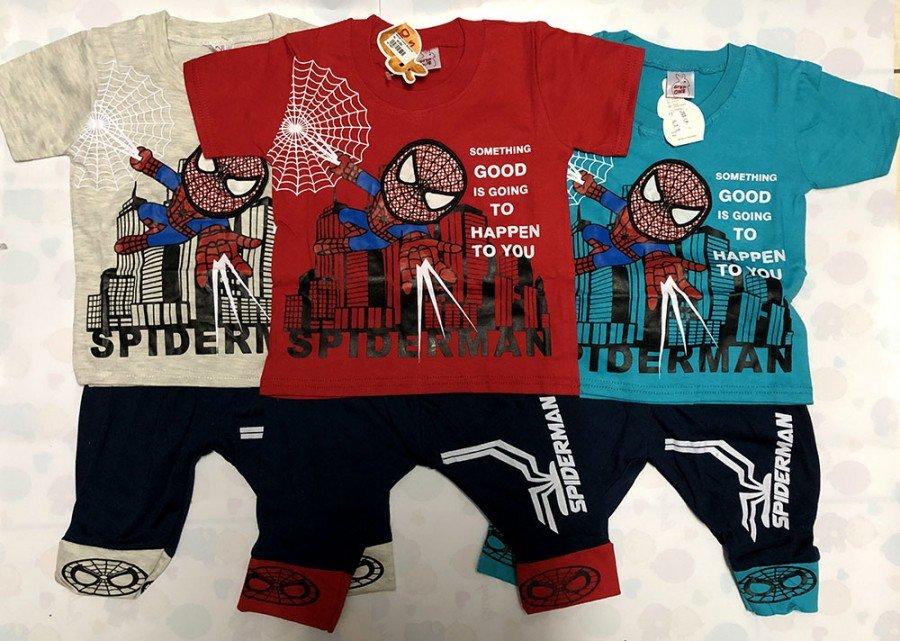 Setelan Anak Cowok Spiderman Lampu 19110027