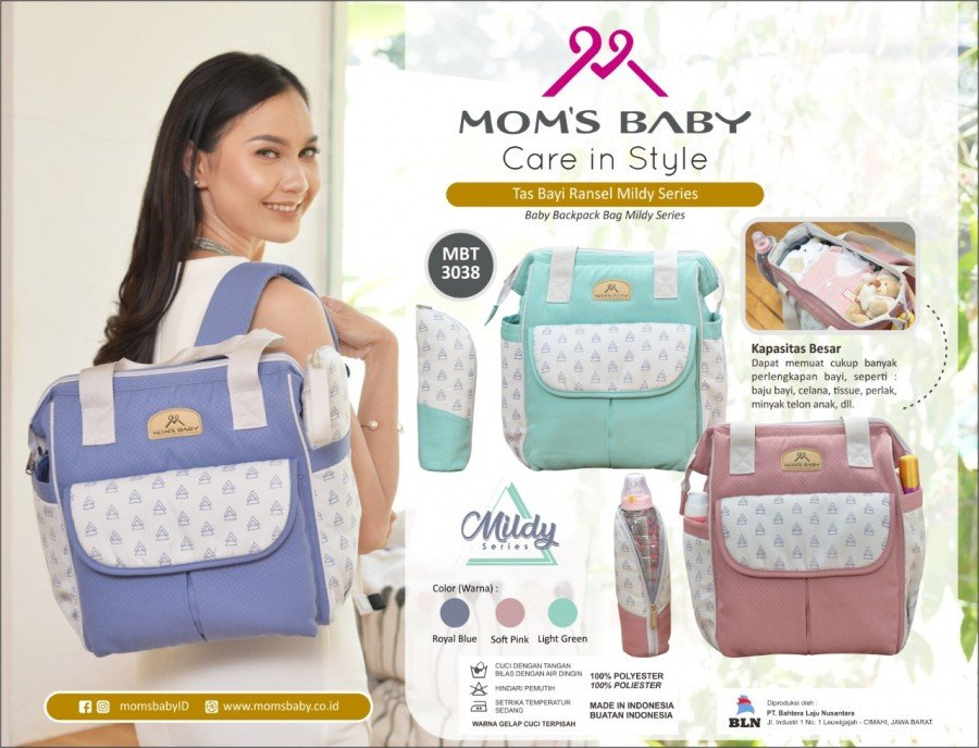 Tas Bayi Ransel Mil-Dy Series Moms Baby MBT3038 - Blue