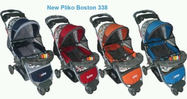 Baby Stroller Pliko Boston 338 - Biru