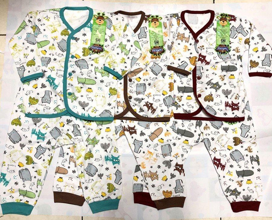 Setelan Baju Baby Panjang Ridges M Cats 19120010