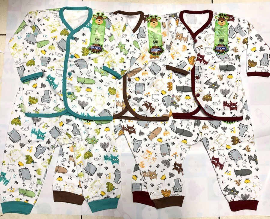 Setelan Baju Baby Panjang Ridges L Cats 19120011