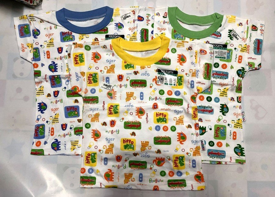 Atasan Kaos Anak Ridges Hippo Animals XL 19120090