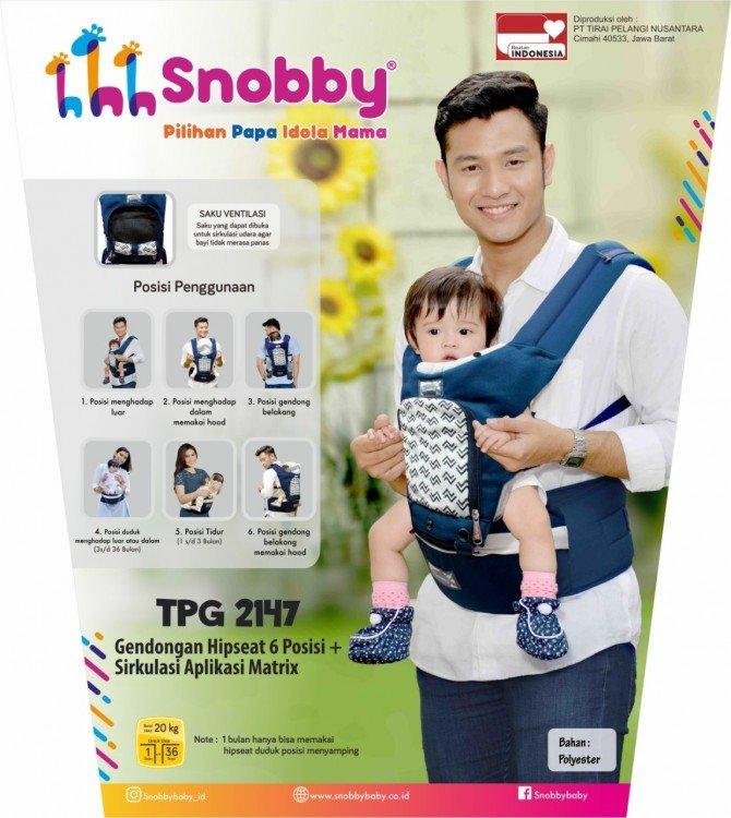 Snobby Gendongan Bayi Hipseat 6 Posisi Sirkulasi Aplikasi Matrix TPG2147