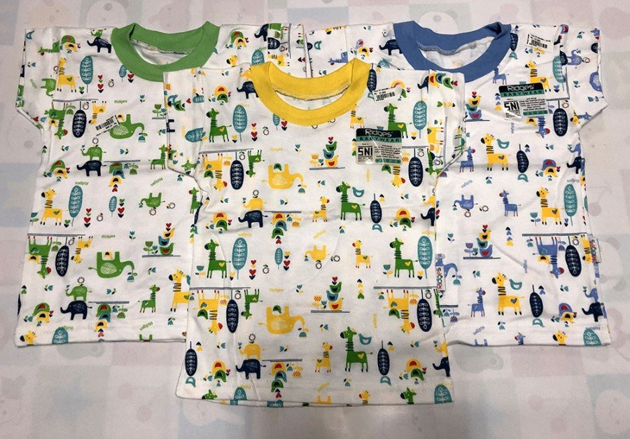 Baju Atasan Kaos Anak Ridges Giraffe and Friends XL 20010041