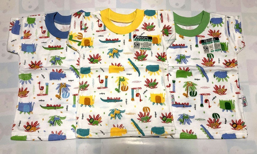 Baju Atasan Kaos Anak Ridges Animal and Tree XL 20010033