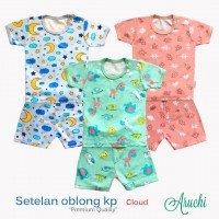 Setelan Baju Baby Pendek Baby Aruchi L 20010096 (Premium Quality)