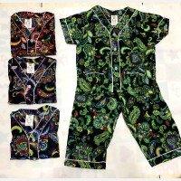 Setelan Baju Tidur Anak Batik No. 5 / Piyama Anak Batik Bagan - Model Baju Batik Lokal