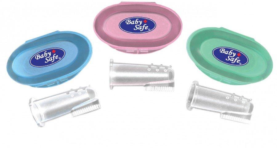 Silicone ToothBrush Baby Safe / Finger Tootbrush dan Gum Massager