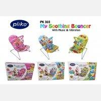 Baby Bouncer Pliko My Soothing Bouncer - Biru