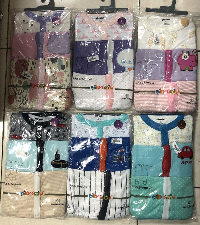 Sleepsuit Baby Grow Tutup Kaki 6 Months Girl 20020058