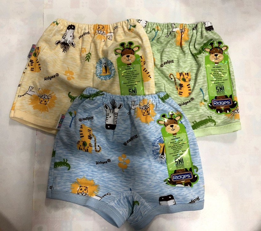 Celana Pendek Ridges NewBorn Lion & Tiger 20020045