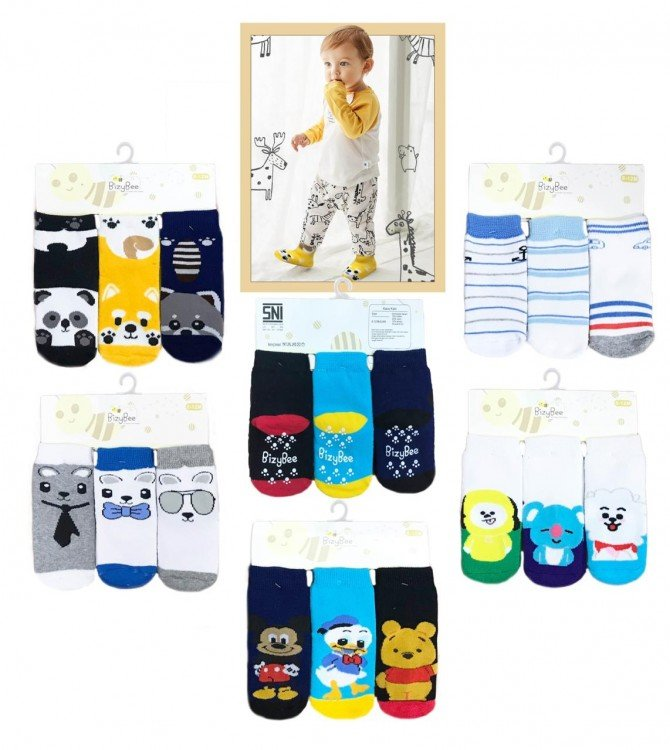 Kaos Kaki Bayi 3 In 1 Boy Bizzy Bee 20020071