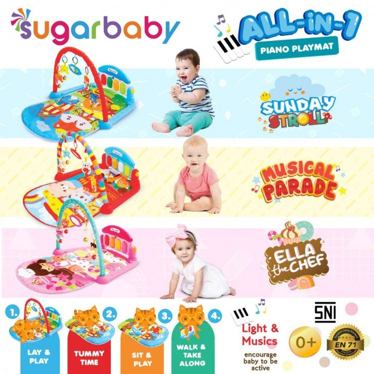 Musical Play Gym / Baby Gym Playmats Piano Sugar Baby 19050067