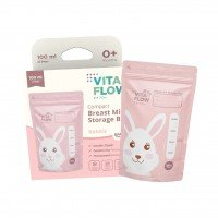 Kantong ASI VitaFlow 100 ml (Rabbit) - Double Zipper Anti Bocor