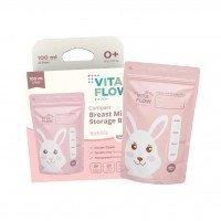 Kantong ASI VitaFlow 100 ml (Rabbit) - Double Zipper Anti Bocor