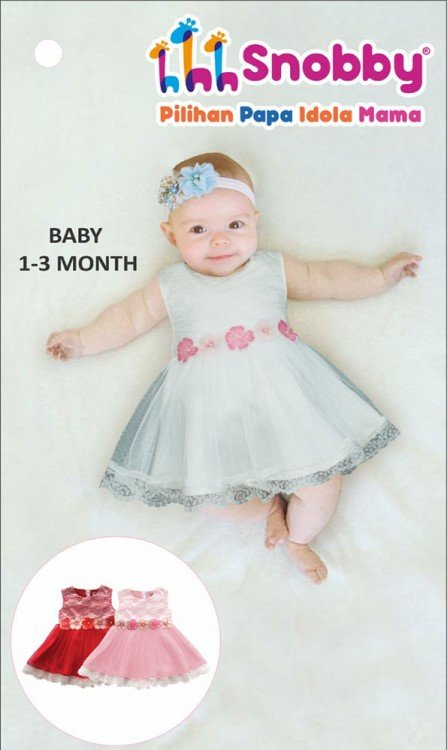 Terusan Gaun Bayi Snobby Iliana 20020087