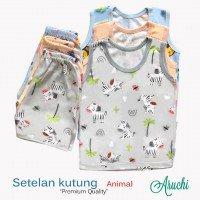 Setelan Baju Baby Buntung / Singlet Baby Aruchi M 20030014 (Premium Quality)