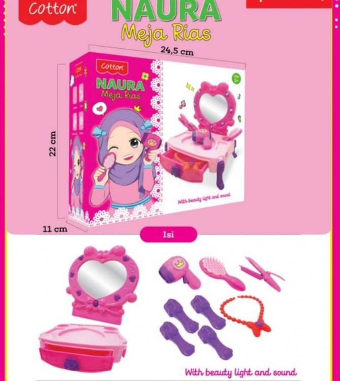 Mainan Make Up - Naura Meja Rias 20030008