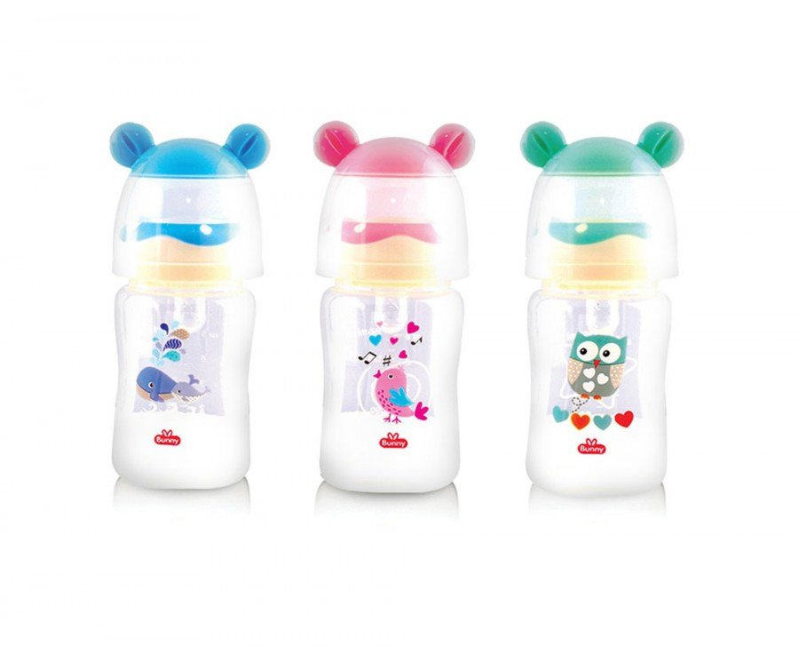 Botol Susu Bayi Wide Neck Lusty Bunny Ear 125ml 20040040