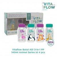 Botol Asi PP VitaFlow Animals Series 140ml 4pcs