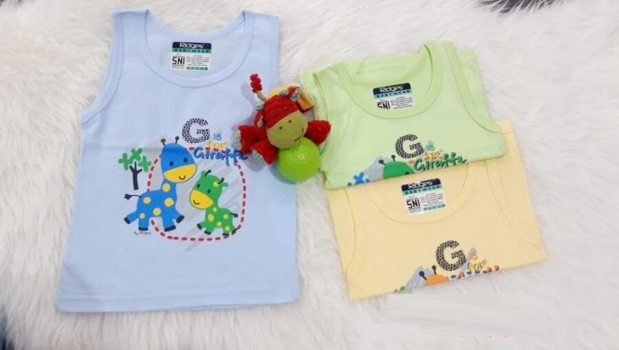 Baju Atasan Singlet Anak Ridges G is for Giraffe S 20050029