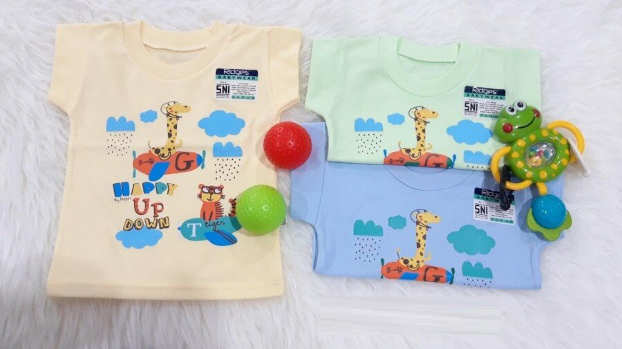 Baju Atasan Kaos Anak Ridges Happy Up Down L 20050011