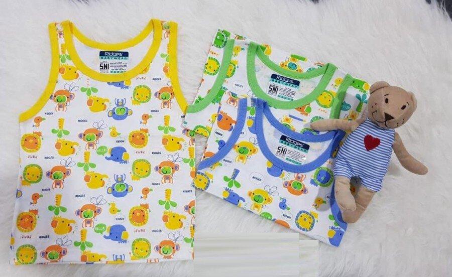 Baju Atasan Singlet Anak Ridges Hello Monkey L 20030047