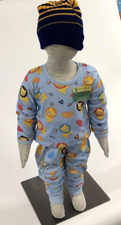 Setelan Baju Baby Panjang / Piyama / Baju Tidur Baby Aruchi XL 20080010 (Premium Quality)