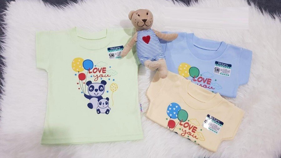 Baju Atasan Kaos Anak Ridges Love You XL 20030060