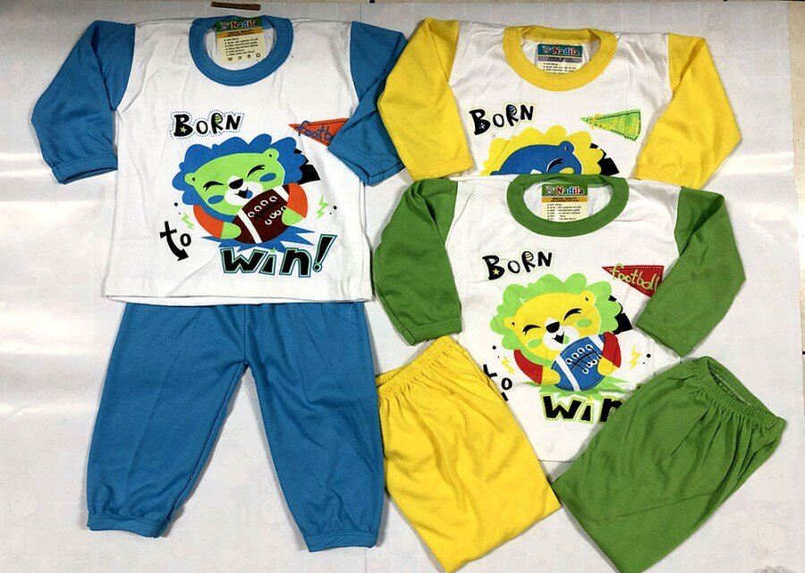 Setelan Baju Baby Panjang / Piyama / Baju Tidur Bayi Print 0-1 tahun 20090046