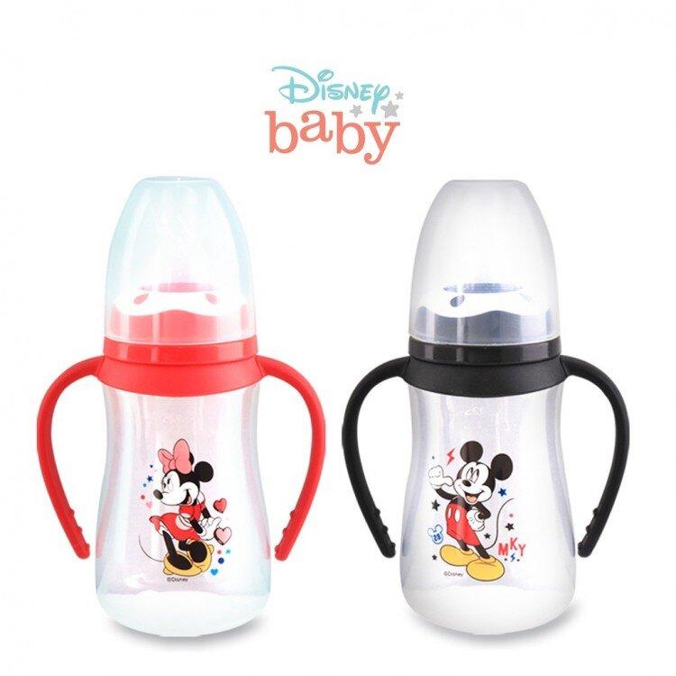 Botol Susu Bayi Mickey Minnie Pegangan Lusty Bunny 125ml 20100025 (with Handle)