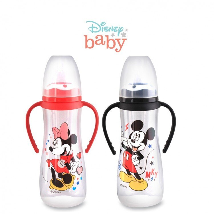 Botol Susu Bayi Mickey Minnie Pegangan Lusty Bunny 250ml 20100026 (with Handle)