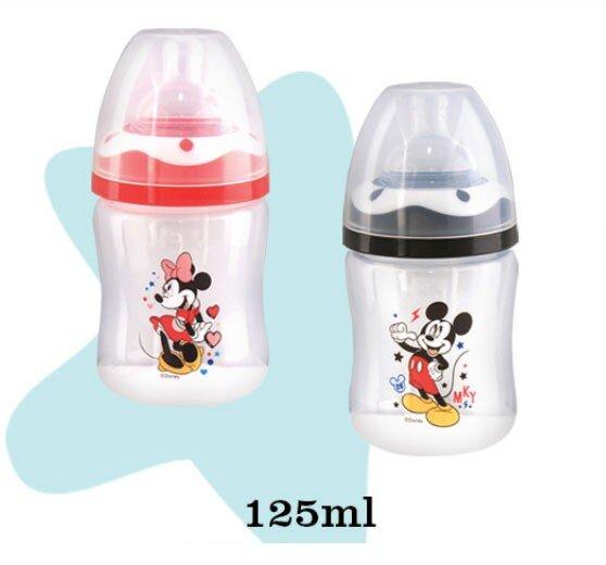 Botol Susu Bayi Mickey Minnie Wide Neck Lusty Bunny 125ml 20100023