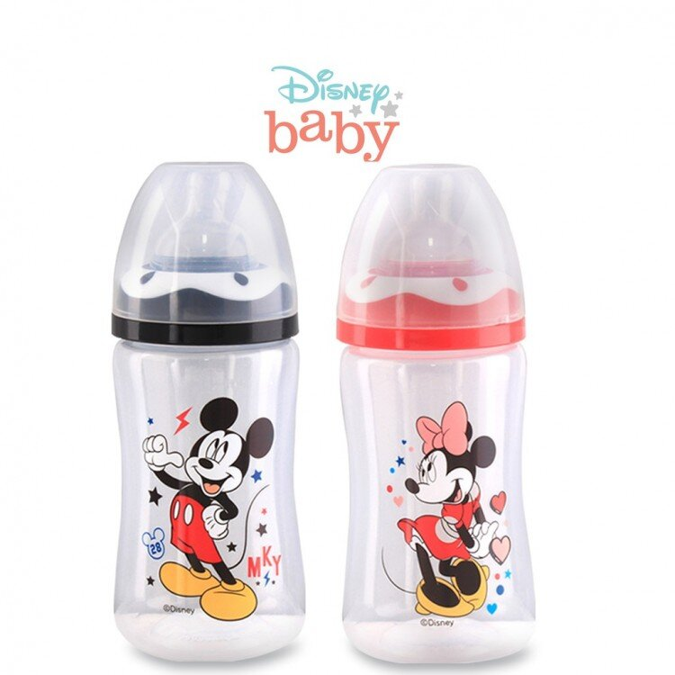 Botol Susu Bayi Mickey Minnie Wide Neck Lusty Bunny 250ml 20100024