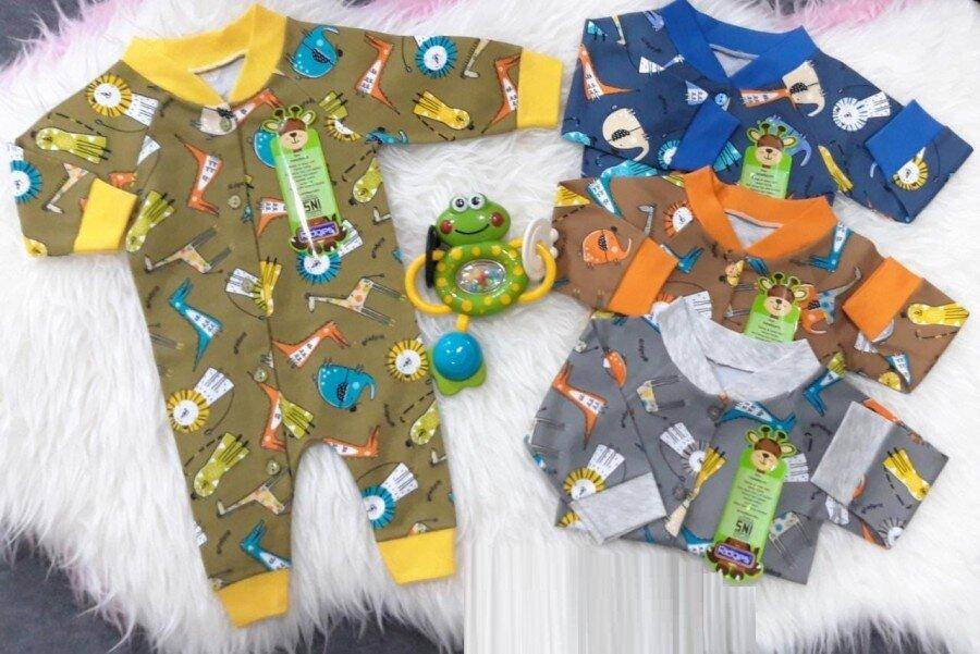 Baju Kodok Bayi / Jumpsuit Bayi / Jumper Panjang Bayi Ridges Lion & Dino 20110009