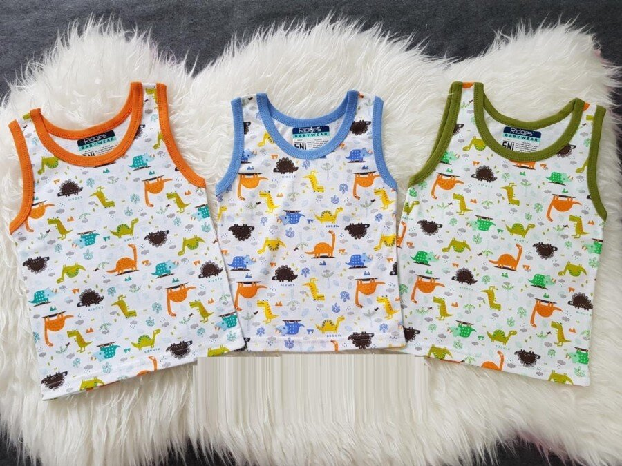 Baju Atasan Singlet Anak Ridges Dino In The Park XL 20110004
