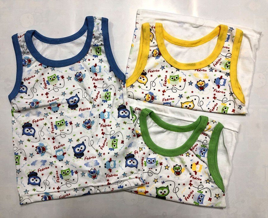 Baju Atasan Singlet Anak Owl L (Sablon) 20100112